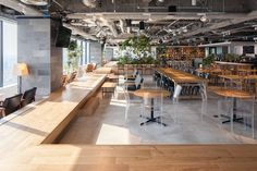 We design variety of spaces including workplaces, commercial spaces, hotels, and buildings. Cool Office Space, Office Space Design, Workspace Design, Office Workspace, Office Designs, Cafeteria Design, Lounge Design, Cafe Design, Beaux Arts Lyon