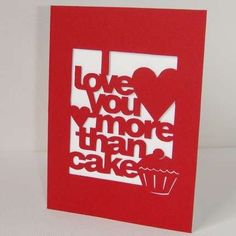 Personalized 'I Love You More Than' Cards #love #valentine