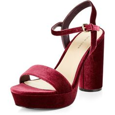 Steve Madden Carrson (Dark Red) High Heels ($90) ❤ liked on ...