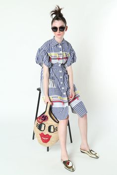 Tsumori Chisato Resort 2017 Fashion Show - gingham