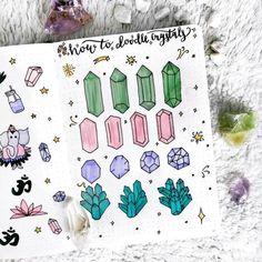Adorable gems bullet journal and planner doodles
