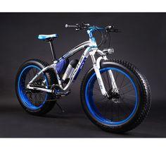 KINGTTU® Elektrofahrräder Mountainbikes Cruiser Mens -Fahrrad Weiß Blau…