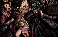Kate Moss for Etro Fall/Winter 2015/2016   The Fashionography