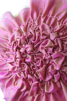 Fabric Manipulation sample - textile textures & surface creation idea; manipulating fabrics