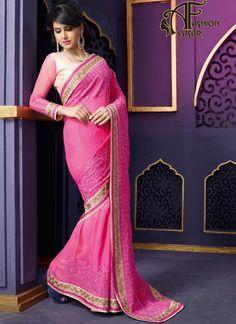 Pink Georgette Sarees Online