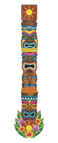 Channel the island gods with a Jointed Tiki Totem Cutout! Jointed Tiki Totem Cutout is made of sturdy cardstock and features a carved tiki totem print. Aloha Party, Hawaiian Luau Party, Moana Birthday Party, Hawaiian Theme, Luau Birthday, Tropical Party, Beach Party, Hawaiian Tiki, Luau Centerpieces