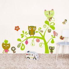 Cats, Owls and Birds Decorative Wall Stickers