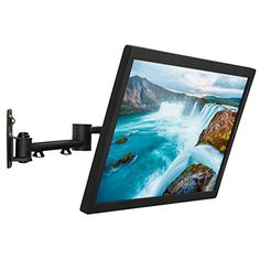"""Cheetah Mounts ALAMLB Articulating (20"""" Ext) TV and Monitor Wall Mount for 20-57"""" (some up to 65"""") LCD LED Plasma Flat Screens up to VESA 400x400. Full Ballhead Tilt, Swivel, and Rotation. Includes a 10' Twisted Veins HDMI Cable and Bubble Level"""