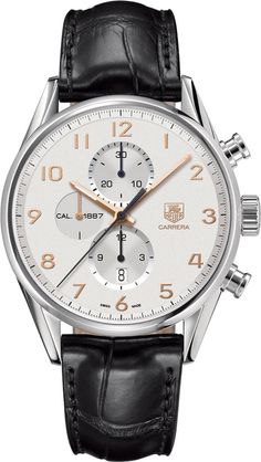 @tagheuer  Watch Carrera Chronograph #bezel-fixed #bracelet-strap-alligator #brand-tag-heuer #case-material-steel #case-width-43mm #chronograph-yes #date-yes #delivery-timescale-call-us #description-done #dial-colour-silver #gender-mens #luxury #movement-automatic #official-stockist-for-tag-heuer-watches #packaging-tag-heuer-watch-packaging #subcat-carrera #supplier-model-no-car2012-fc6235 #warranty-tag-heuer-official-2-year-guarantee #water-resistant-100m
