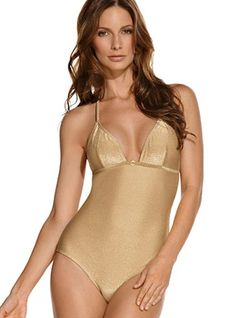 Ondademar Swimwear - Envy Gold One Piece Bathing Suit     - Live some intense experiences in these summer vacations! Wear this mischievous one piece triangle bathing suit and have a blast with your family and loving friends.   - Price $194