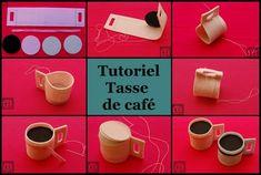 tasse, café, feutrine,tutoriel, loisirs créatifs, couture, facile