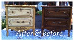 What an amazing before and after by 2nd Chance Junk in California painted with Amber Waves of Grain and Heaven's Light.