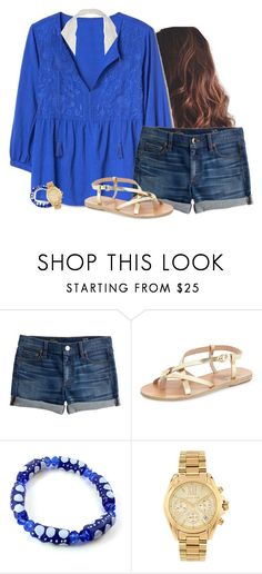 """Just got this shirt"" by aweaver-2 on Polyvore featuring J.Crew, Ancient Greek Sandals and Michael Kors"