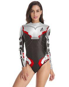 5f67d767fe0 Avengers Endgame Quantum Realm Long Sleeve Rashguard One Swimsuit – FADCOVER