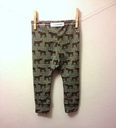 moose baby leggings toddler stretch pants boy leggings deer green handmade clothing hipster baby  So much cute stuff I can't stop