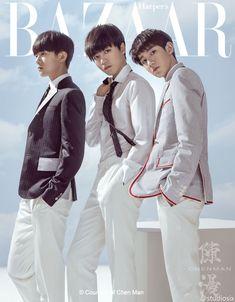 Studiosix weibo update: Hình ảnh TFBOYS trên tạp chí BAZAAR tháng 7