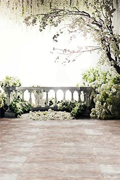 Kate Digital Photography Backdrops Brick Floor White Flowers Background Natural Scenery For wedding Photo Studio Backdrop Tree Photography, Scenic Photography, Background For Photography, Photography Backdrops, Digital Photography, Wedding Photography, Product Photography, Photography Tips, Cityscape Photography