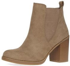 Womens tan boots from Dorothy Perkins - £35 at ClothingByColour.com