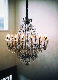 #chandelier #rock crystal Lustre Mântova