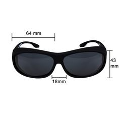bd1ca2be41f Fitover Sunglasses Polarized Lens Cover For Eyeglasses and Prescription  Glasses to Reduce Glare and Shade Eyes