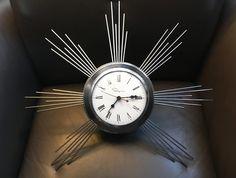 Mid-century vintage chrome Ingraham starburst wall clock Clocks, Chrome, Mid Century, Wall, Vintage, Home Decor, Decoration Home, Room Decor, Retro