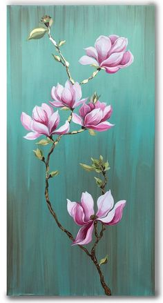 Acrylic Painting Flowers, Acrylic Painting Canvas, Painted Flowers, Flower Paintings, Flower Art Drawing, Lotus Flower Art, Baroque Art, Desenho Tattoo, Flower Canvas