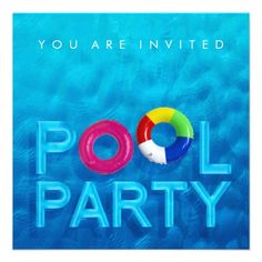 Pool Party Card  Pool Party Invitations And Custom Invitations
