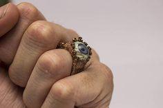 Badeye Ring raw copper magic cursing ring. HEX