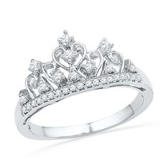 1/5 CT. T.W. Diamond Tiara Ring in Sterling Silver - View All Rings - Zales