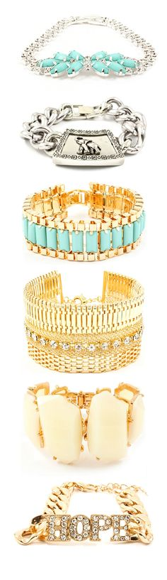 // #Arm #Candy #Bracelets // #silver #gold  #turquoise #mint  #jewelry #stacking