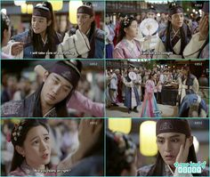 so hoo about to puch ban ryu but Soo yeon hit so hoo with a wood and ask ban ryu are you alright by touching his cheeks - Hwarang - Episode 7 Review