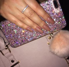 Discovered by Zahraa A. Find images and videos about nails, iphone and glitter on We Heart It - the app to get lost in what you love. Cute Cases, Cute Phone Cases, Iphone Phone Cases, Pink Phone Cases, Iphone 7 Plus Rose, Portable Apple, Accessoires Iphone, Airpod Case, Coque Iphone