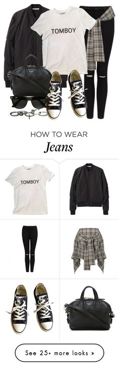 """Style #11350"" by vany-alvarado on Polyvore featuring Forever New, T By Alexander Wang, Vivienne Westwood Anglomania, Givenchy, Converse, Ray-Ban and maurices"