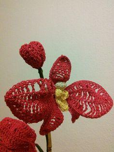 gehäkelte Orchideenblüte Marianne