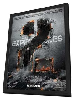 The Expendables 2 11x17 Framed Movie Poster (2012)