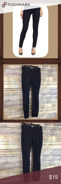 Jessica Simpson  Black Kiss Me Super Skinny Jeans Faded black kiss me super skinny jeans. Size 6/28. In good used condition. 8 inch rise. 30 inch inseam. Jessica Simpson Jeans Skinny