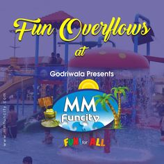 The fun overflows at #MMFunCity! What could be better than catching some waves and going down some #WaterSlides? #WaterPark #Raipur #WavePool