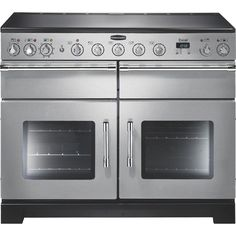Buy Rangemaster EXL110EISS/C Excel Stainless Steel with Chrome Trim 110cm Electric Induction Range Cooker (97420) | Marks Electrical