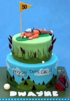 Golf Cake by Peggy Does Cakes#Repin By:Pinterest++ for iPad#