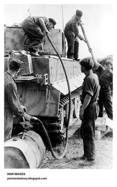 Refueling a thirsty Tiger 1 in field conditions