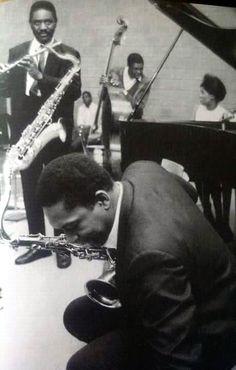John Coltrane. Pharoah Sanders, Alice Coltrane and I'm guessing that's Jimmy Garrison and Rashied Ali at the back.