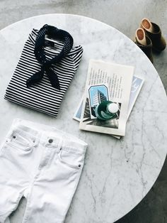 Classic and clean for spring. Shop Gap denim at… Casual Outfits, Cute Outfits, Fashion Outfits, Spring Summer Fashion, Spring Outfits, Love Fashion, Womens Fashion, Classy And Fabulous, Get Dressed