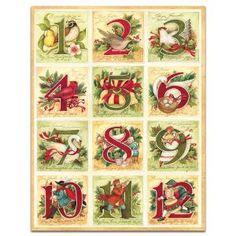 Twelve Days of Christmas, cards, by Susan Winget.
