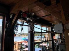 View to deck, Dinghy Dock Pub & Floating Restaurant 8 Pirates Lane, Nanaimo, British Columbia