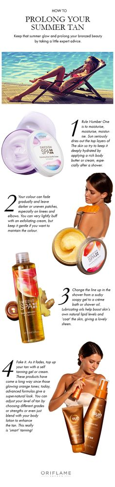 Can't say goodbye to your summer glow just yet? Don't worry - you don't have to! We show you how to prolong your bronzed beauty.