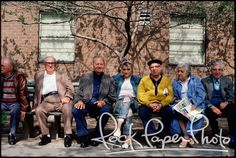I love this photo. Madonna with the seniors! It's $600 for an 11x14 but it is signed by the photographer Richard Corman.
