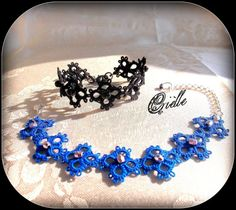 Black or Blue Gothic Charming Bracelet Talìa small by Crielle, €20.00