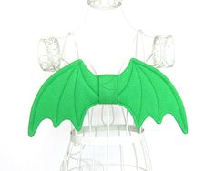 Baby Dragon Wings Green Mini Size Halloween Costume Cosplay Wire Free (35.00 USD) by Snowbella