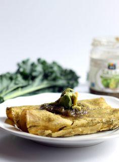 Vegan Lentil, Kale & Salsa Verde Enchiladas   Hummusapien