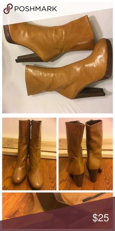 MIA Platform Booties 🎉New Listing🎉 In great shape, minor peeling inside boot MIA Shoes Ankle Boots & Booties